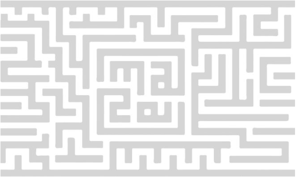 Maze graphic featuring letters m-a-z-e